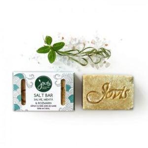 Salt Bar - Salvie, Menta & Rozmarin - sapun natural cu sare de mare